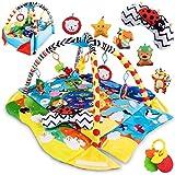 Lionelo Anika 2in1 Baby Krabbeldecke mit Spielbogen, Laufstallfunktion, Spielbogen, ab Geburt...