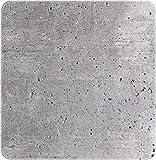 WENKO Duscheinlage Concrete - Antirutsch-Duschmatte mit Saugnäpfen, Kunststoff (TPR), 54 x 54 cm,...