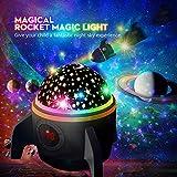 (2019 Neuest) Amouhom Projektor Lampe, Raketenform LED Sternenlicht Projektor mit Fernbedienung...