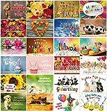 Geburtstagskarten (Set 3): 24-er Postkarten Set mit Herz & Humor - alles verschiedene Motive von EDITION COLIBRI  (10834-860)