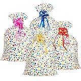 4 Stück Kunststoff Multi Farbe Punkt Taschen (36 x 48 Zoll) mit 4 Stück Ziehen Blumen Große...