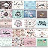 Geburtstagskarten Glückwunschkarten Set Geburtstag Karte Postkarten Erwachsene Kinder Geburtstagskarte Happy Birthday Glückwunschkarte Karten