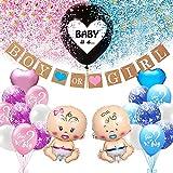 Baby Gender Reveal Party Dekoration Set, Girl Or Boy Geschlecht Offenbaren Ballon Mit Konfetti, Baby...