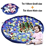2er Set Kinder Aufräumsack, XXL Baby Spieldecke Spielsack Spielzeugteppich Spielzeug Beutel,...
