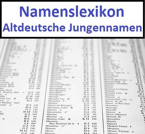 Altdeutsche Jungennamen
