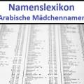 Arabische Mädchennamen
