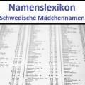 Schwedische Mädchennamen