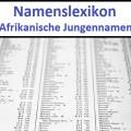 Afrikanische Jungennamen