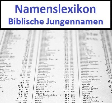 Biblische Jungennamen