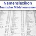 200 beliebte russische Mädchennamen
