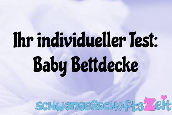 Baby Bettdecke Test Kaufen