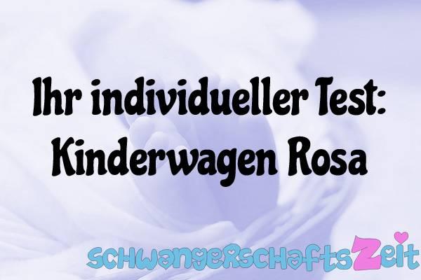 Kinderwagen Rosa Test Kaufen