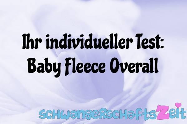 Baby Fleece Overall Test Kaufen