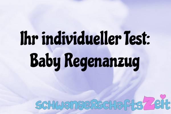 Baby Regenanzug Test Kaufen