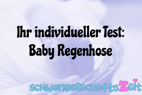 Baby Regenhose Test Kaufen