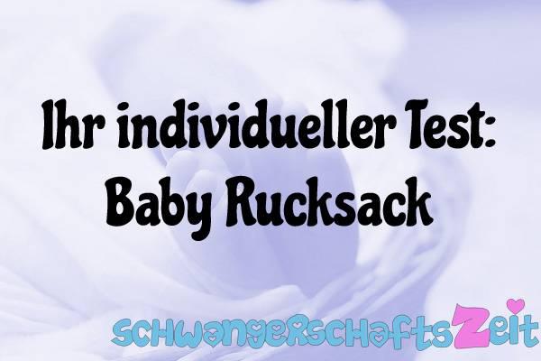 Baby Rucksack Test Kaufen