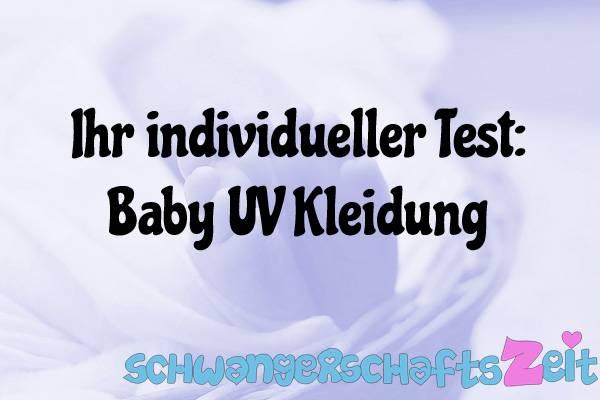 Baby UV Kleidung Test Kaufen