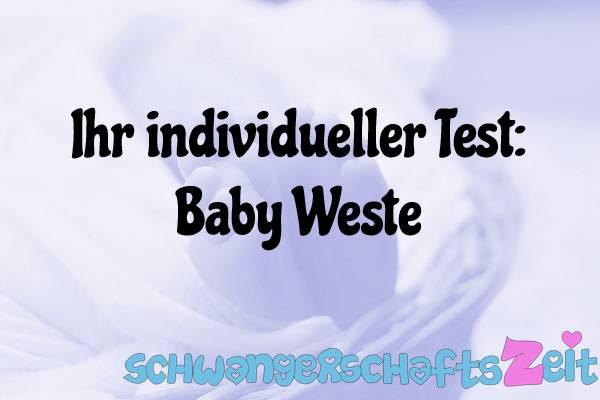 Baby Weste Test Kaufen