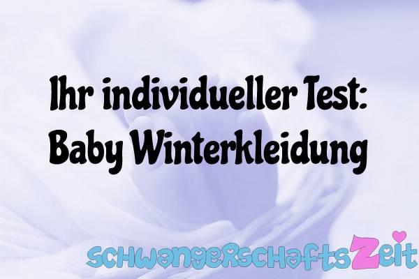 Baby Winterkleidung Test Kaufen