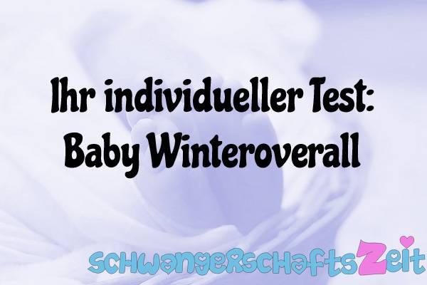 Baby Winteroverall Test Kaufen