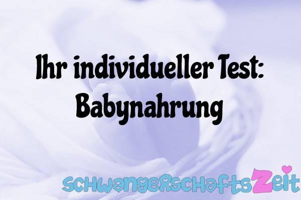 Babynahrung Test Kaufen