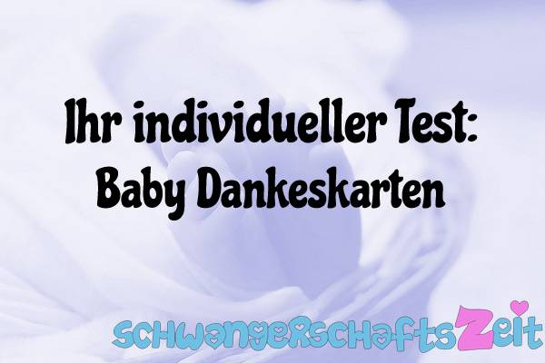 Baby Dankeskarten Test Kaufen