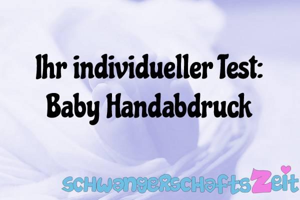 Baby Handabdruck Test Kaufen