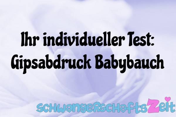Gipsabdruck Babybauch Test Kaufen