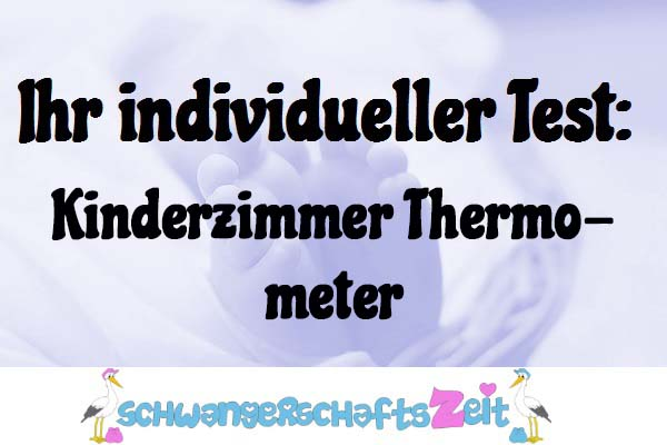 Kinderzimmer Thermometer