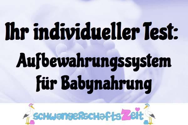 Aufbewahrungssystem für Babynahrung