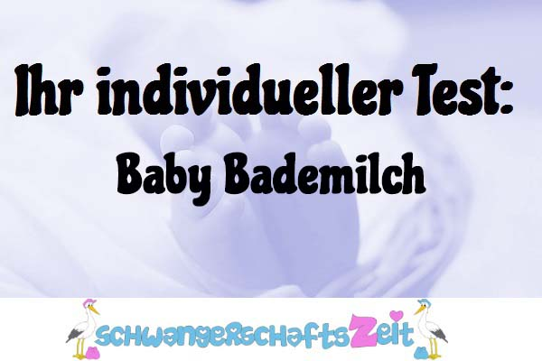 Baby Bademilch