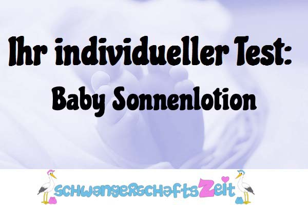 Baby Sonnenlotion