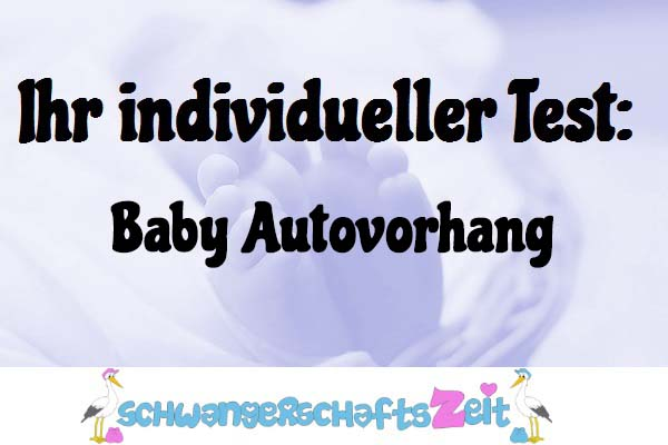 Baby Autovorhang