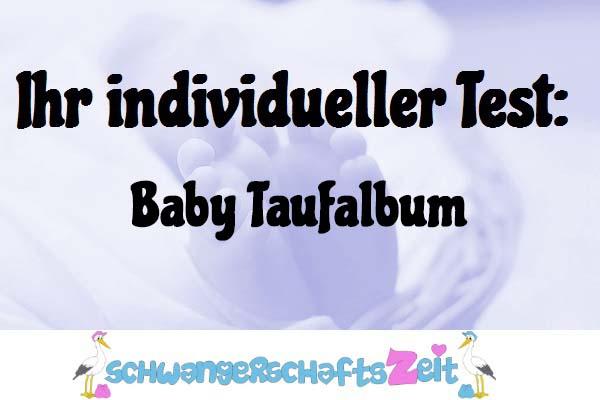 Baby Taufalbum