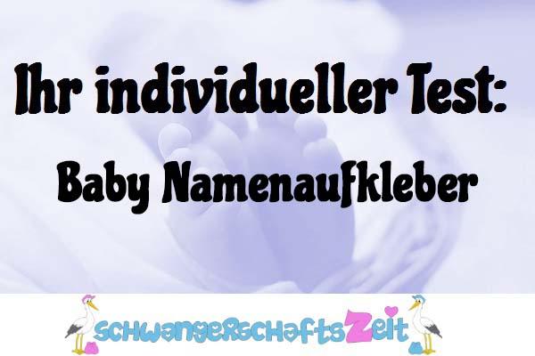 Baby Namenaufkleber