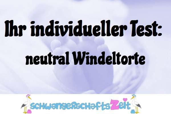 neutral Windeltorte