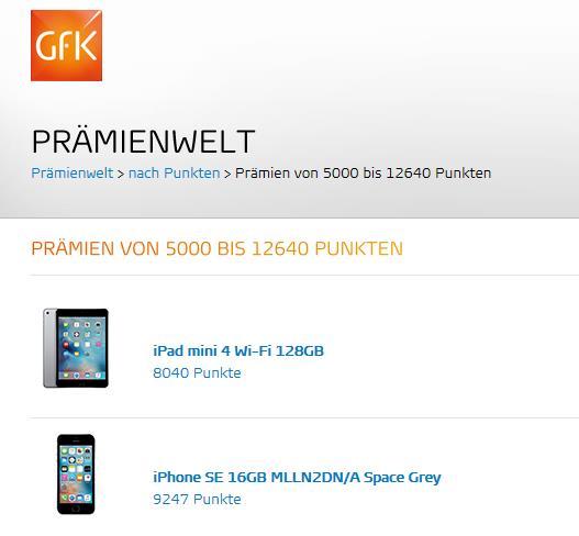 GfK Praemienwelt