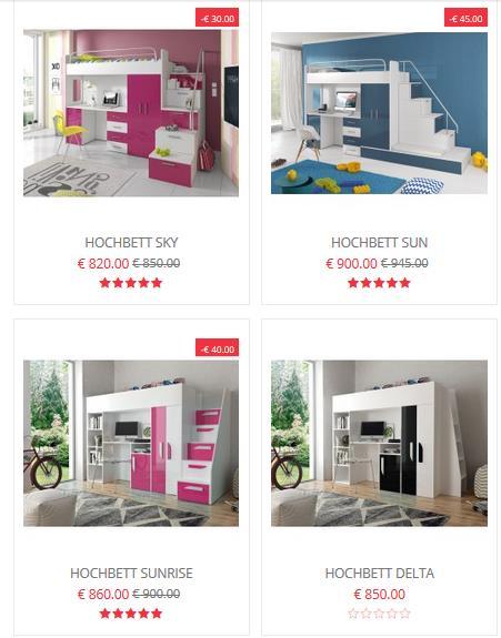 Hochbett Kinderzimmer kleiner Raum